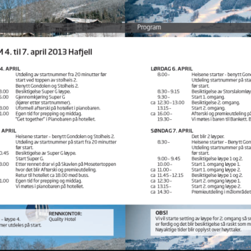 Program lørdag 6. april Storslalom