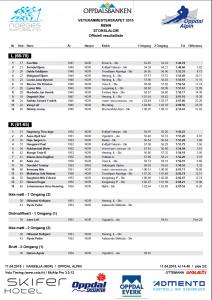 Alpinveteranene NM 2015 storslalåm menn offisielt resultat kort løype side 2
