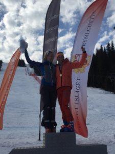 Elisabeth Økern og Vibecke Fische NM MastersAlpint2018